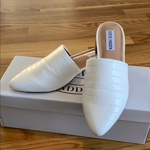 Steve Madden CAIRO - White Croc Slip Ons